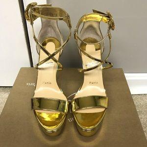 CHRISTIAN LOUBOUTIN Choca Leather Platform Sandals